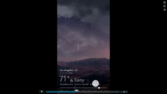 Microsoft – Bing Weather App Time Slider UI Motion
